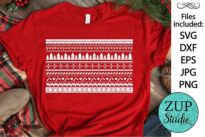 Ugly Christmas Sweater text SVG Design Cutting Files 329