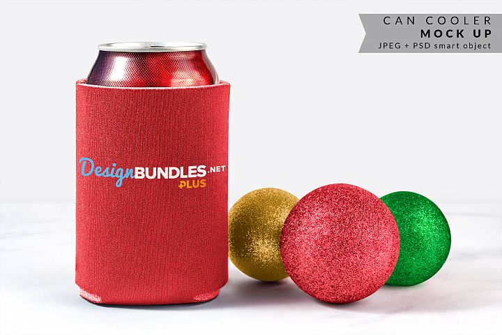 Can Cooler Mock up for Christmas