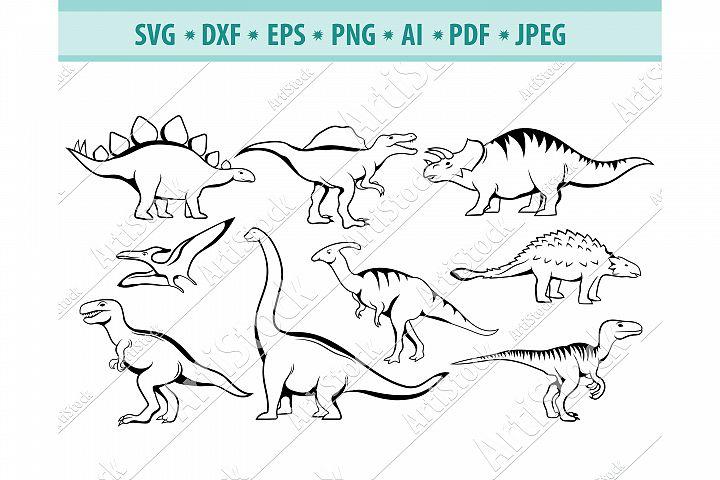 Dinosaur SVG, Jurassic period Png, Cute dinosaur Dxf, Eps