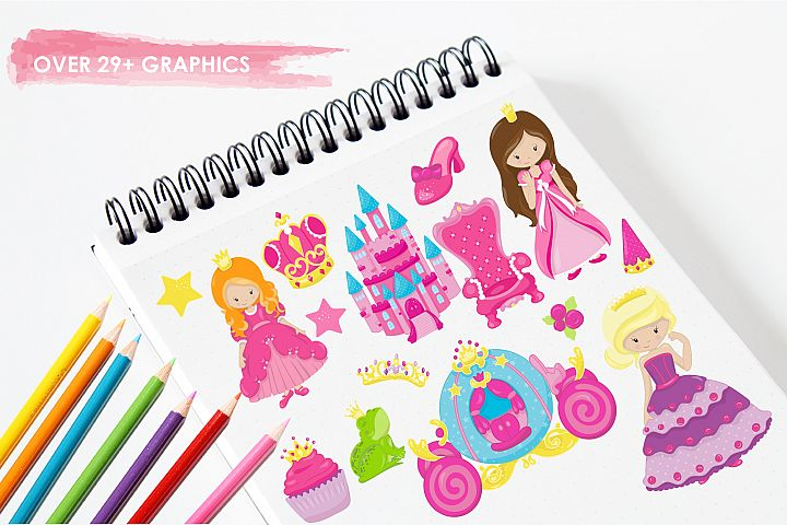 Fairytale Princess  graphics and illustrations - Free Design of The Week Design 2
