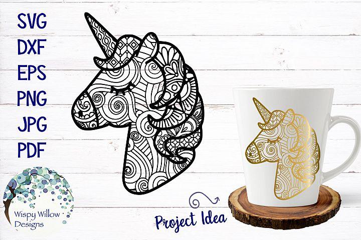 Unicorn Zentangle SVG