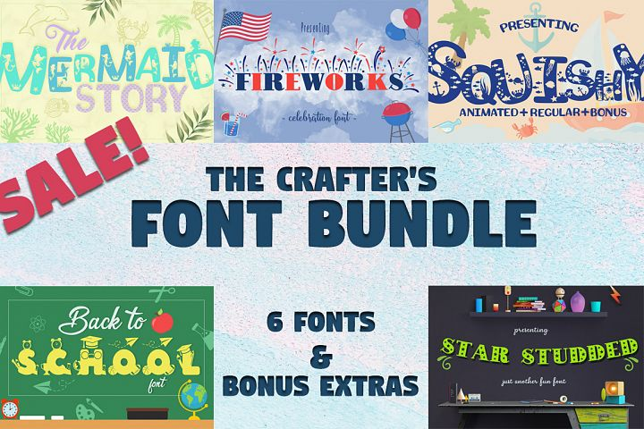 Sale! The Crafters Font Bundle