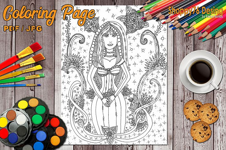 Mysticism / coloring page