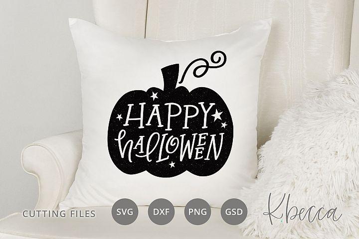 Happy Halloween Pumpkin SVG Cut Files