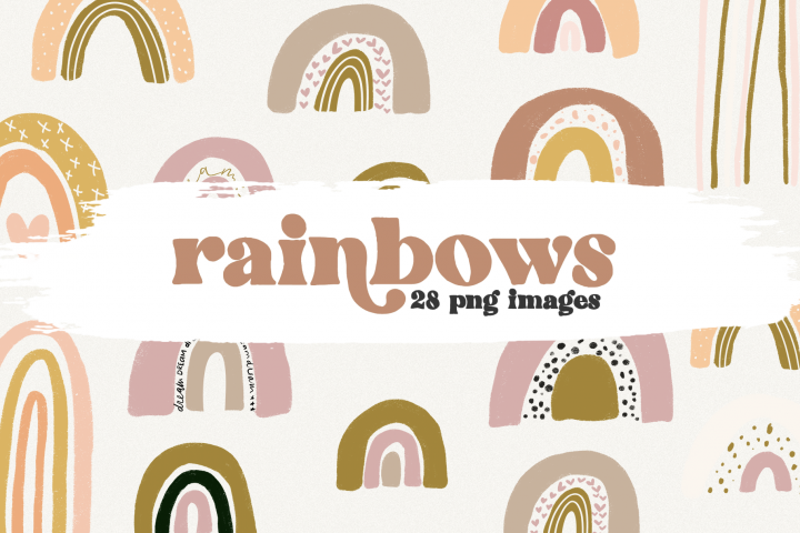 Rainbows - Modern Rainbow Clip Art