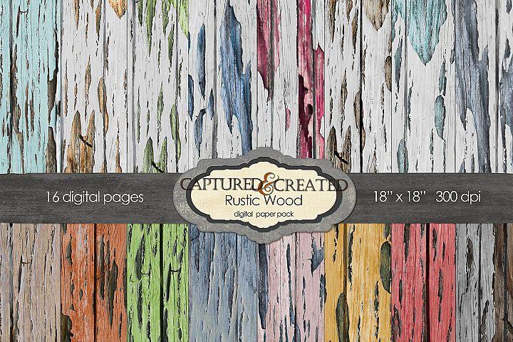 Rustic Woods 16 Digital Paper Pack