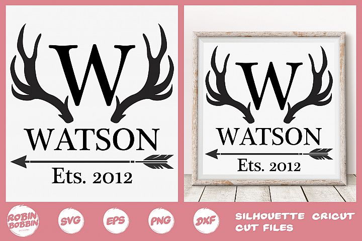 Family SVG, Newlyweds SVG, Deer svg, Personalized Family