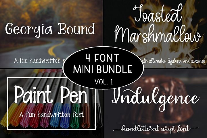 4 Font Mini Bundle - Volume 1