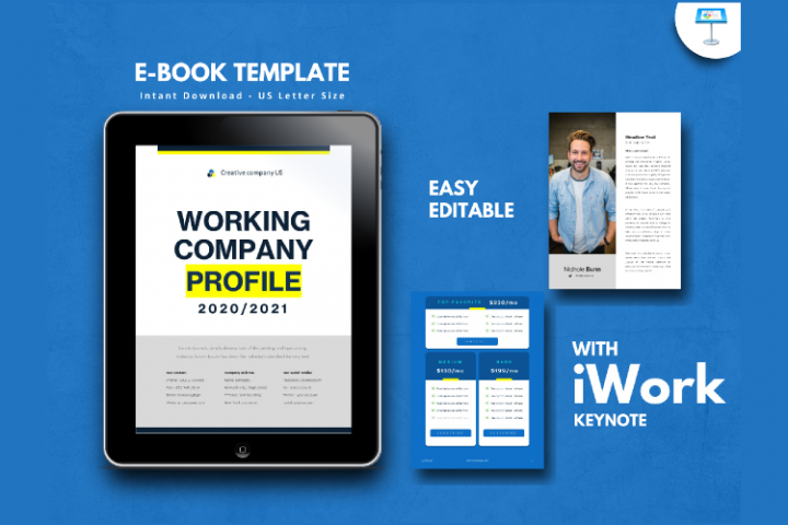 Company Profile 2020 eBook Template Keynote Presentation