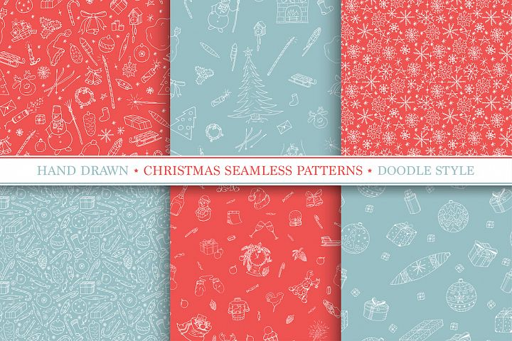 Christmas seamless vector patterns
