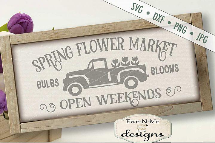 Spring Flower Market SVG DXF Cut File