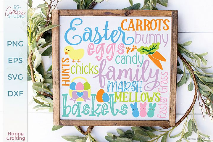 Easter Subway Tile - An Easter Sign SVG