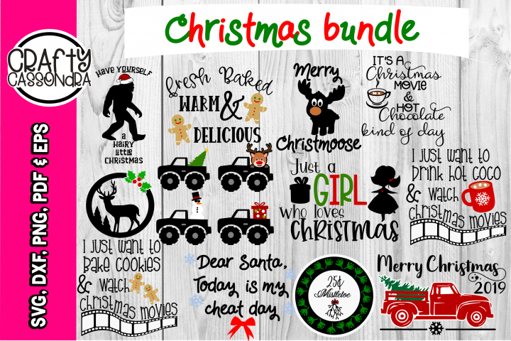 Christmas SVG - Christmas bundle - pickup truck gingerbread