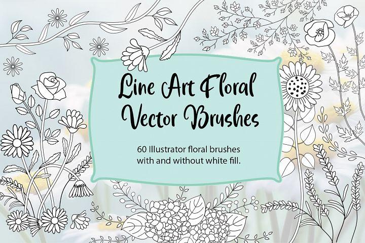 Floral Brushes|for Illustrator