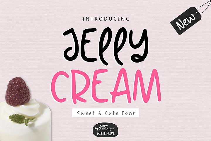 Jelly Cream Sweet Font