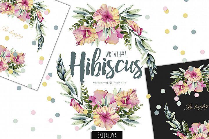 Hibiscus. Wreath #1