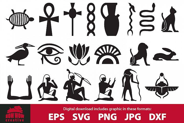 Egyptian symbols clipart & cutting file bundle