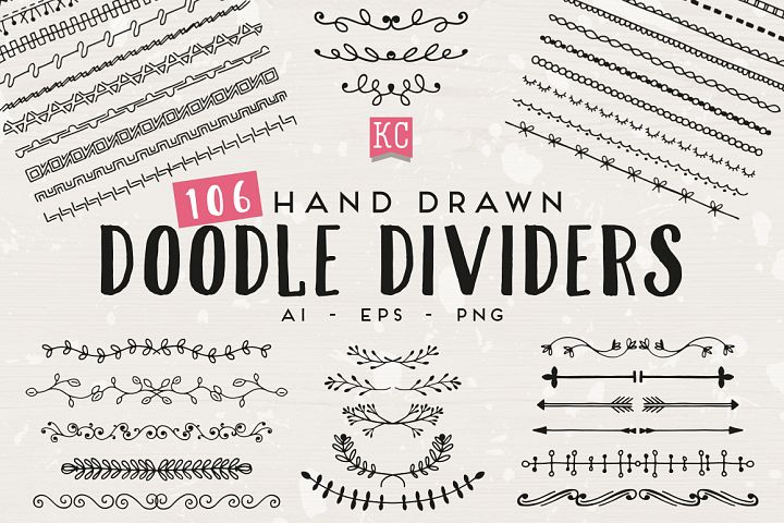Hand Drawn Doodle Dividers