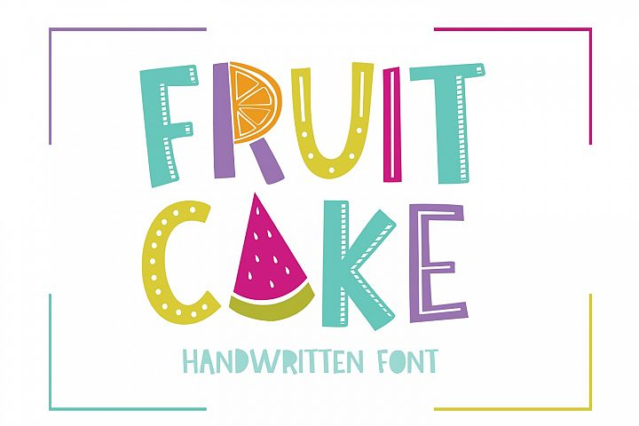 Fruit Cake Handwritten Font