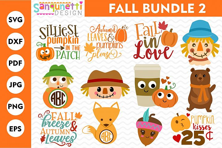 Fall SVG Bundle 2, autumn cut files