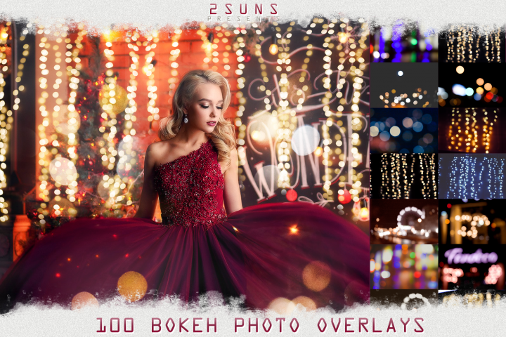 100 PHOTO OVERLAYS BOKEH LIGHT TEXTURES PACK wedding magic