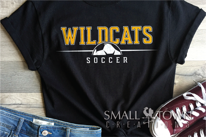 Wildcat, Soccer, Sports, Team, logo, PRINT, CUT & DESIGN