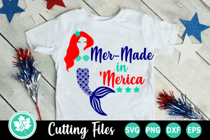 Mer-Made in Merica - An American SVG Cut File