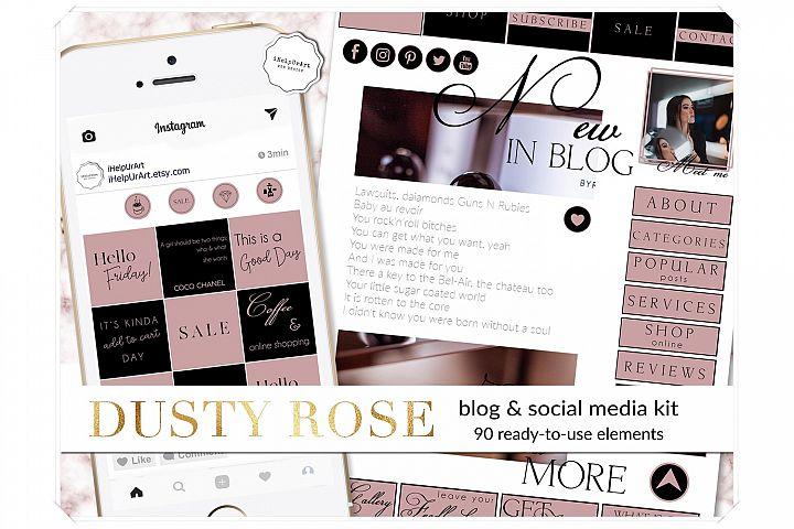 Blog Design Bundle - Pink and Black Blogger Starter Pack