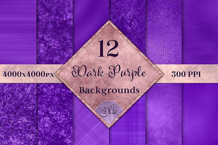 Dark Purple Backgrounds - 12 Image Set