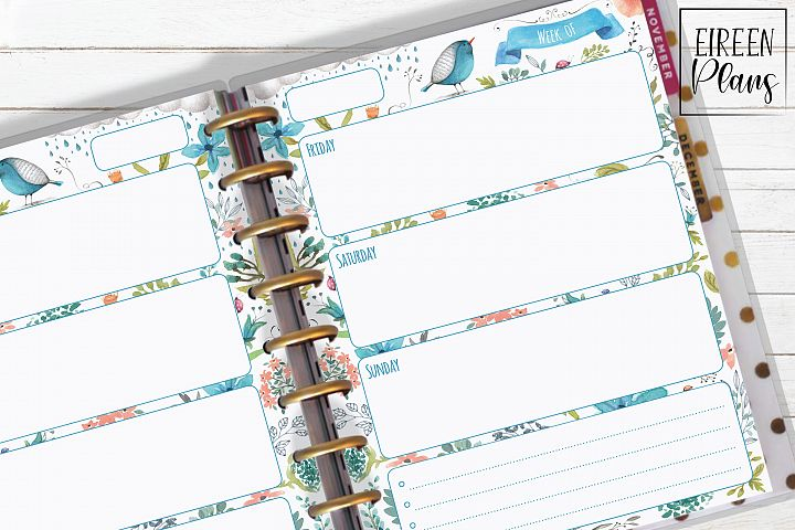 Weekly Printable for Classic Happy Planner