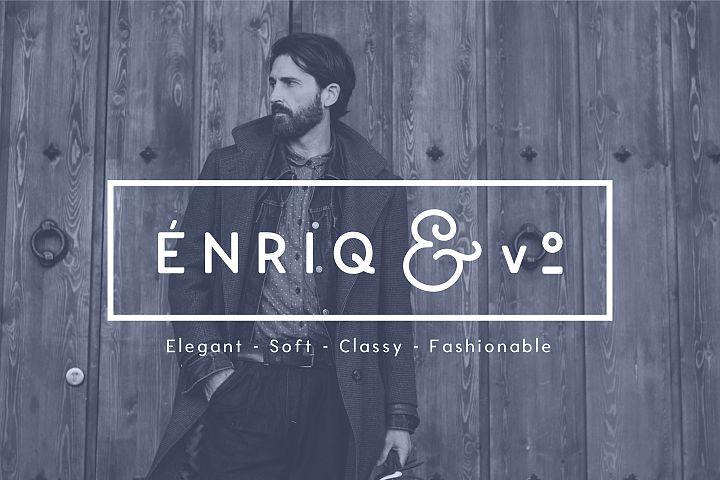 Enrique - 8 Fonts Fashionable Elegant Sans Serif Font example image 1
