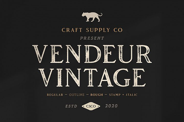 Vendeur Vintage Font Family bonus Extras