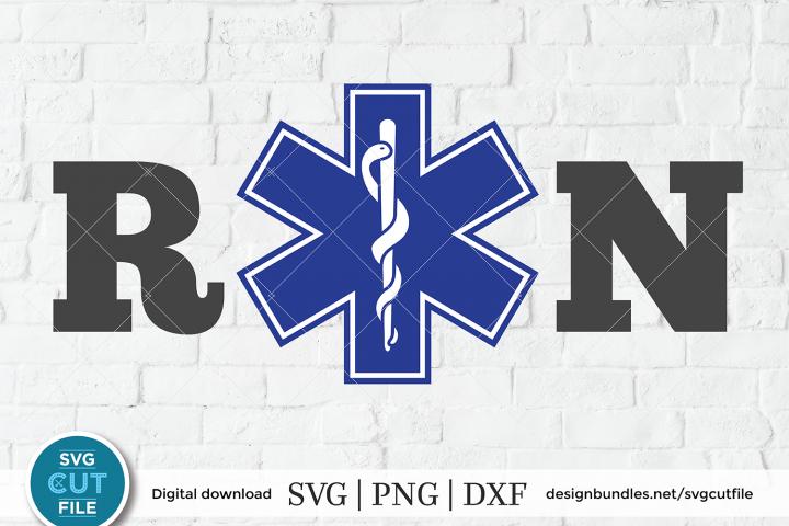 Star of life svg, rn svg, paramedic svg, ems emt sublimation