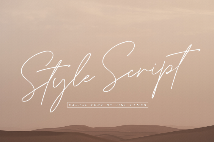 Style Script - Casual Font