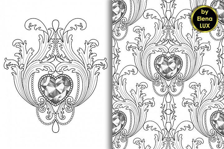 Baroque Diamond Jewelry Set