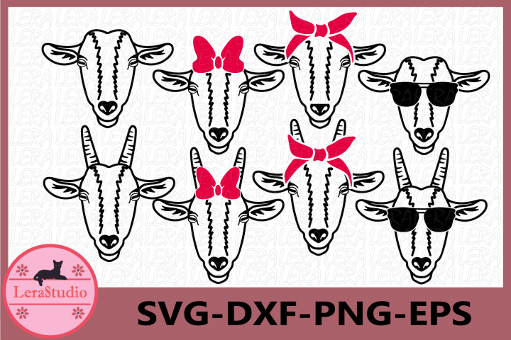 Goat SVG, Farm svg, Goat with Bandana svg, Goat face SVG