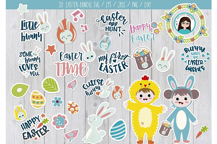 Svg Easter Bundle svg, dxf, png, eps