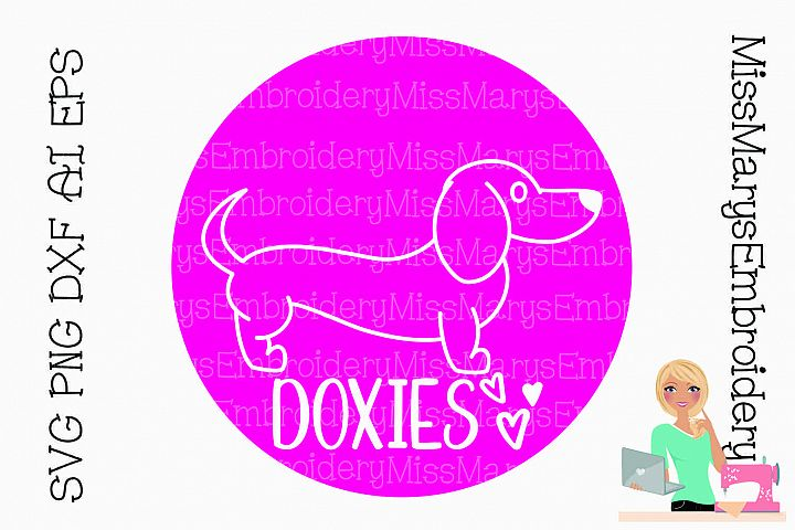 Dachshund Doxies Love SVG PNG DXF AI EPS Al