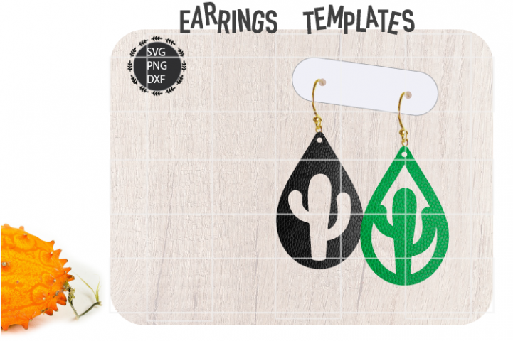 Cactus Earrings Svg / Leather / Faux / Wood / Laser Cut