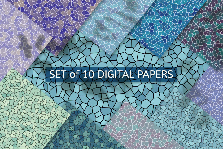 Scrapbooking Papers Water Tones Mosaic Textured Background