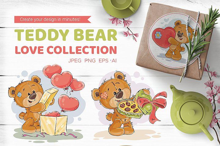 Teddy bear. Love collection.