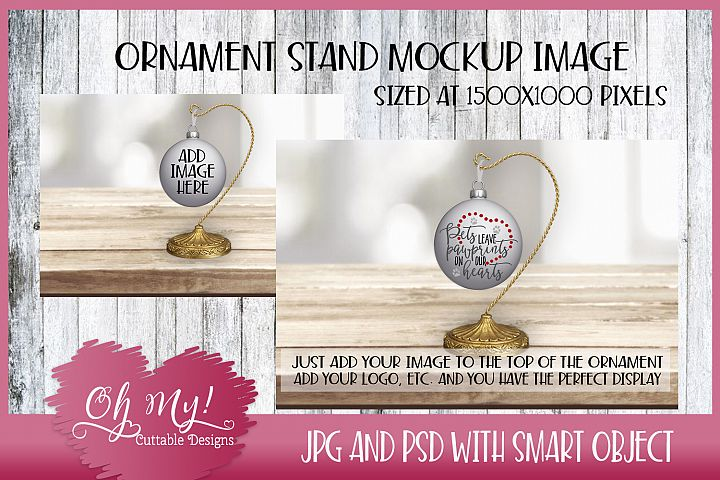 Ornament Stand Mockup - Display