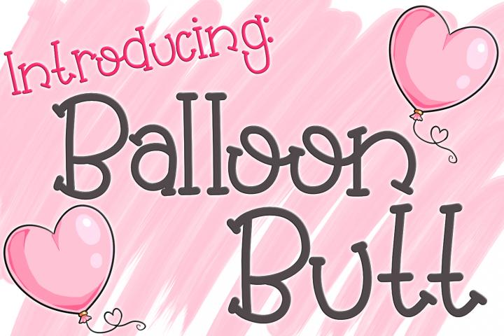 Balloon Butt Font