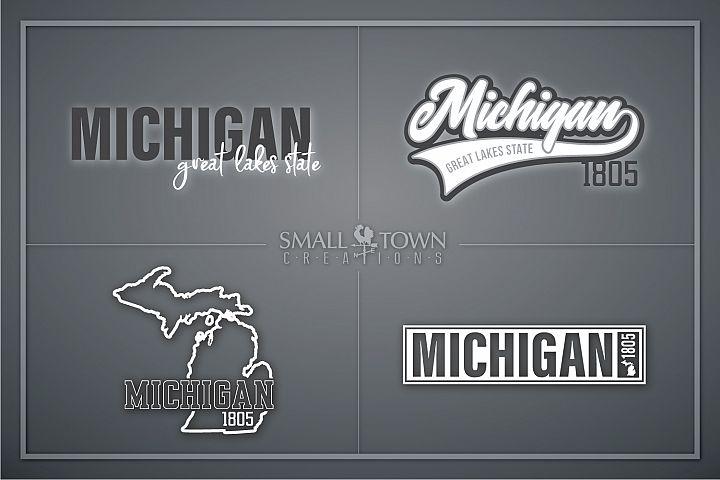 Michigan, Great Lake States - slogan, PRINT, CUT & DESIGN