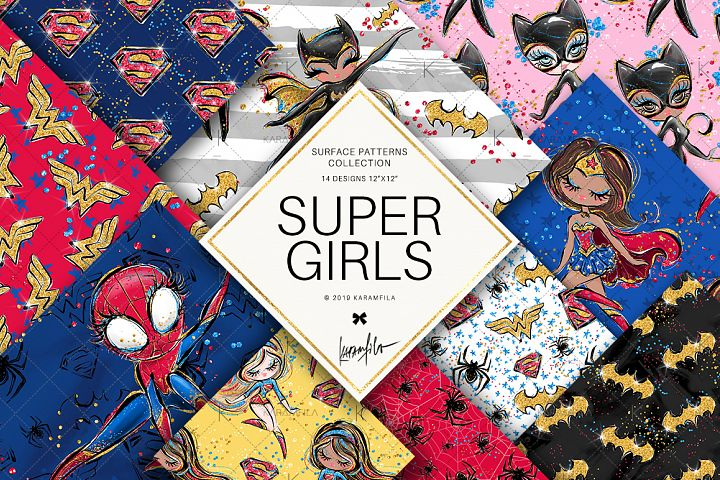 Superhero Girls Patterns