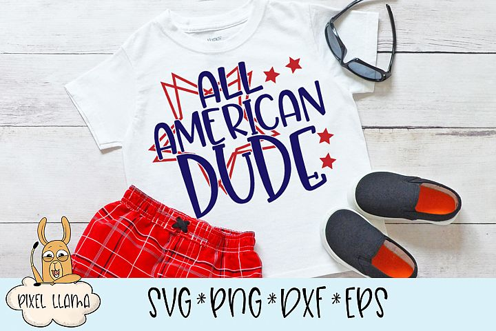 All American Dude SVG Cut File