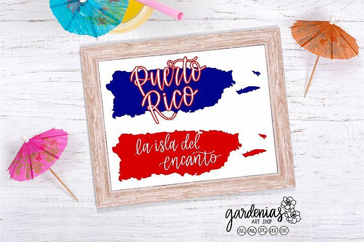 Puerto Rico SVG | La Isla del Encanto | Puerto Rico Clip Art