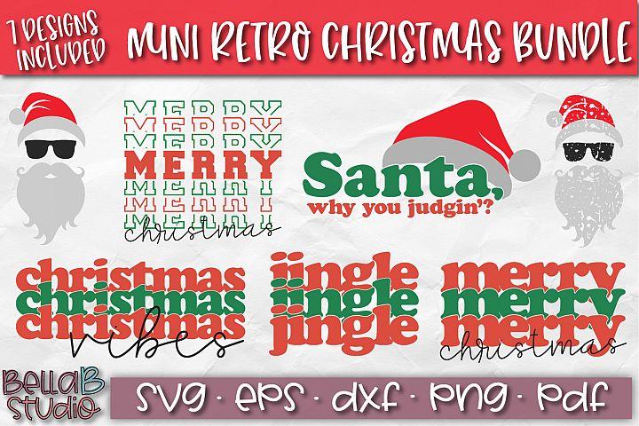 Christmas SVG Bundle, Retro Christmas, Stacked, Hipster