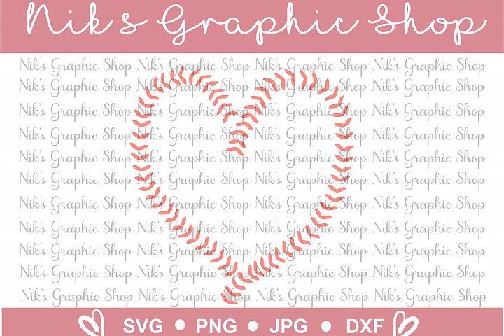 Baseball Heart Svg, Ball heart svg, stitches svg, baseball cut files, cute baseball svg, baseball svg, heart svg
