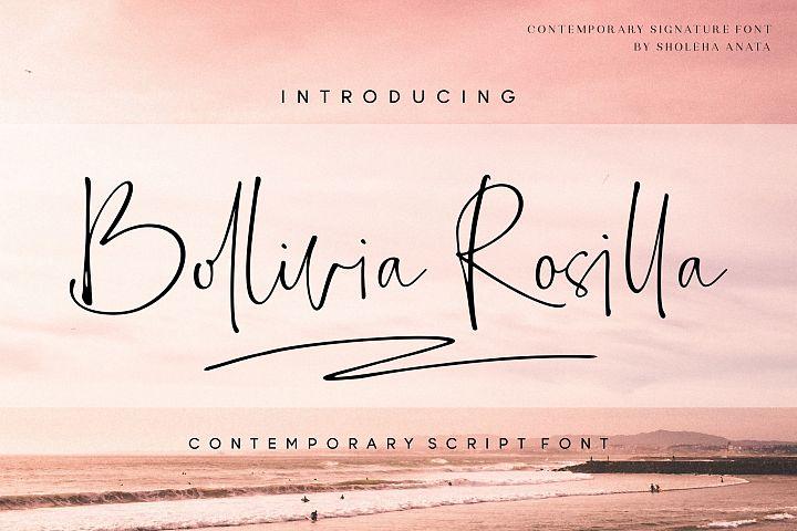 Bollivia Rosilla Script